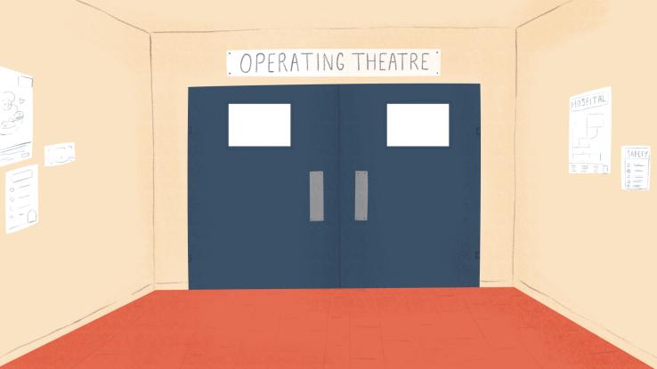 operating theatre door